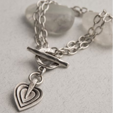 Danon Jewellery Layers Of Love Double Silver Bracelet