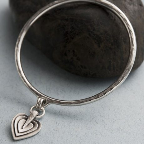 Danon Jewellery Layers Of Love Silver Bangle *