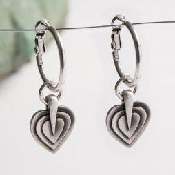 Danon Jewellery Layers Of Love Silver Hoop Earrings *