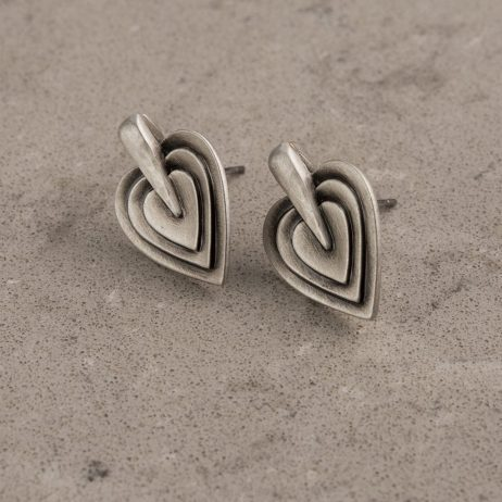 Danon Jewellery Layers Of Love Silver Stud Earrings