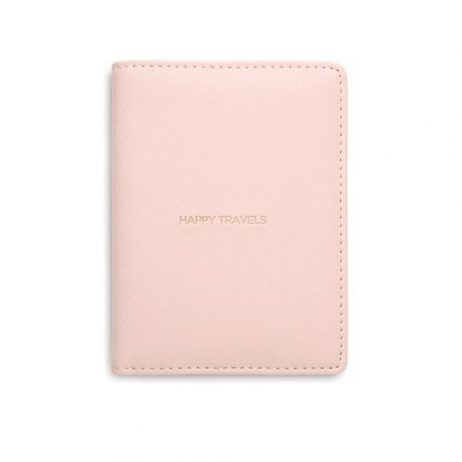Estella Bartlett Happy Travels Passport Case Blush
