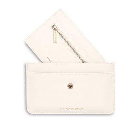 Estella Bartlett Travel Document Wallet Ivory Live As You Dream