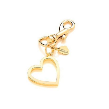 Estella Bartlett Open Heart Metal Charm Light Gold