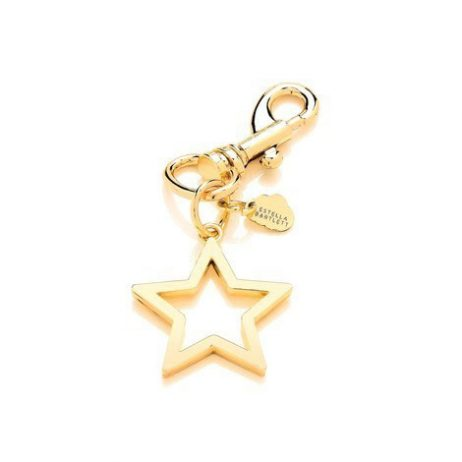 Estella Bartlett Open Star Metal Charm Light Gold