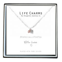 Life Charms Especially For You Puffed Hearts Mix Necklace EFY008N