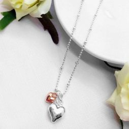 Life Charms Especially For You Puffed Hearts Mix Necklace
