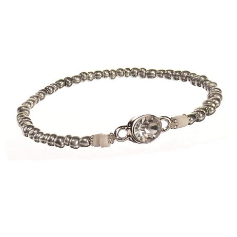 Hot Tomato Jewellery Silver Freebird Bead Bracelet with Crystal