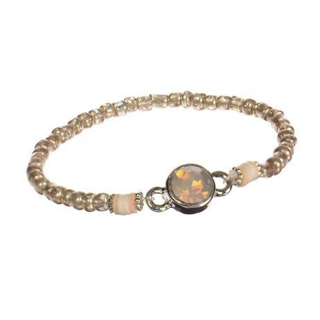 Hot Tomato Jewellery Gold Freebird Bead Bracelet with Crystal