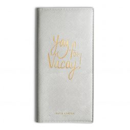 Katie Loxton Large Travel Wallet Yay For Vacay Metallic Silver