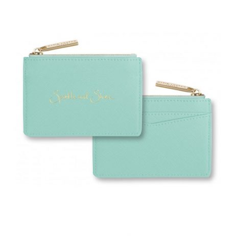 Katie Loxton Card Holder Sparkle and Shine Mint KLB279