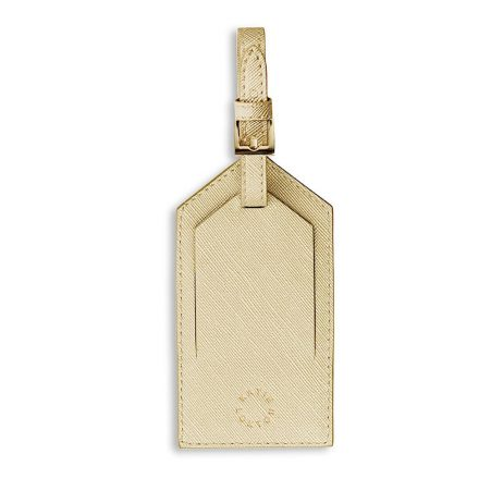 Katie Loxton Luggage Tag Girls Just Wanna Have Sun Metallic Gold