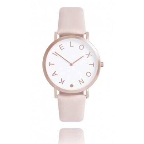 Katie Loxton Rose Gold Plated Lara Blush Pink Leather Watch KLW003