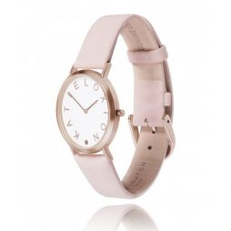 Katie Loxton Rose Gold Plated Lara Watch Blush Pink Leather Strap KLW003