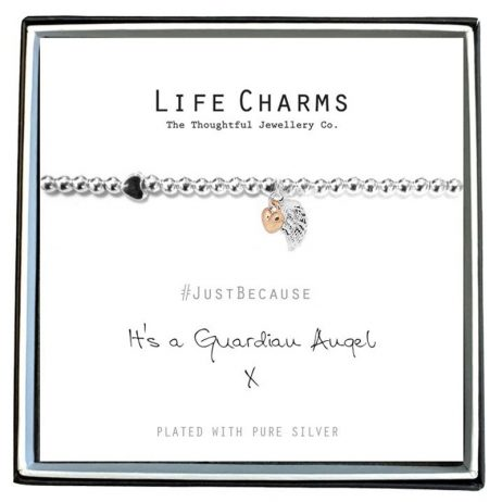 Life Charms Guardian Angel Silver Bracelet