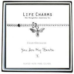 Life Charm You Are My Bestie Silver Bracelet