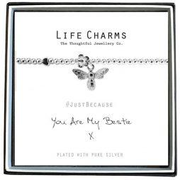 Life Charm You Are My Bestie Silver Bracelet
