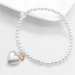 Life Charm Happy Birthday Silver Hearts Bracelet LC008BBW