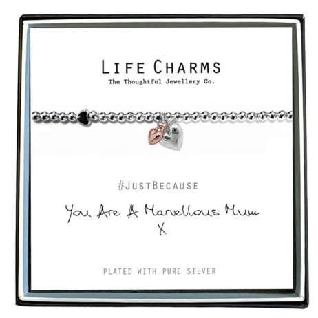 Life Charm You Are A Marvellous Mum Silver Bracelet