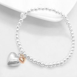 Life Charms Just Because You Are 50 Silver Heart Bracelet LC008BW-50