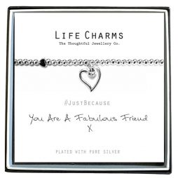 Life Charm You Are A Fabulous Friend Silver Bracelet