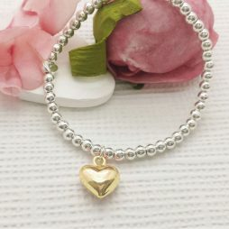 Life Charm You Have A Heart Of Gold Silver Bracelet LC014BW