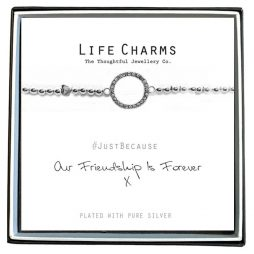 Life Charm Friendship Forever Silver Bracelet LC025BW