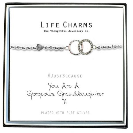 Life Charm Gorgeous Granddaughter Silver Bracelet