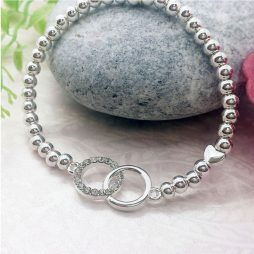 Life Charm Gorgeous Granddaughter Silver Bracelet LC028BW