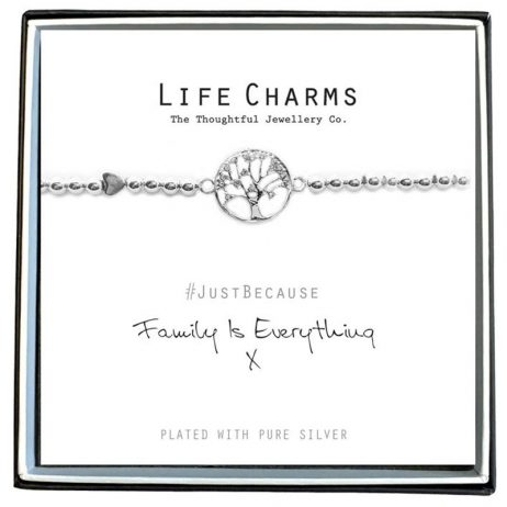 Life Charm Family Is Everything Silver Bracelet