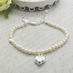 Life Charms Thank You Bridesmaid Pearl and Heart Bracelet LCW01PHB