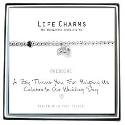 Life Charms Thank You For Helping Us Celebrate Our Wedding Day Bracelet