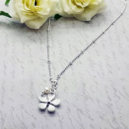 Life Charms Thank You Flower Girl Necklace LCW05SFN