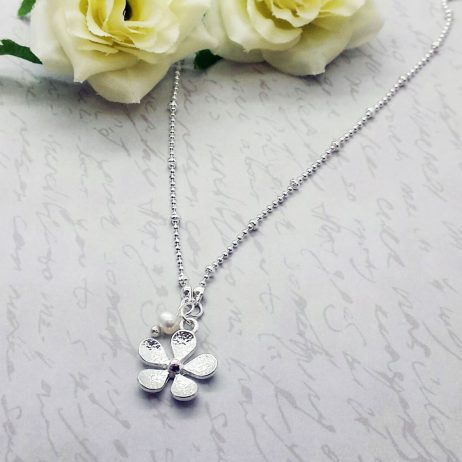 Life Charms Thank You Flower Girl Necklace