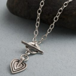Danon Jewellery Layers Of Love Silver Necklace