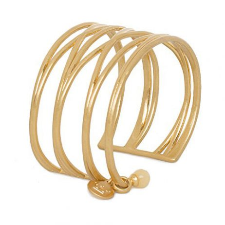 Sence Copenhagen Gold Knowledge Cuff Bangle with Yellow Jade - EOL