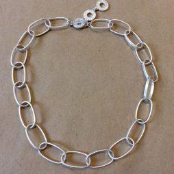 Sence Copenhagen Short Power Necklace Worn Silver