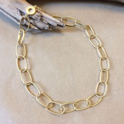 Sence Copenhagen Short Power Necklace Worn Gold