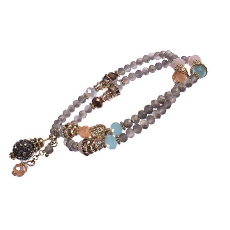 Hot Tomato Jewellery Antiquity Double Grey Bracelet - EOL