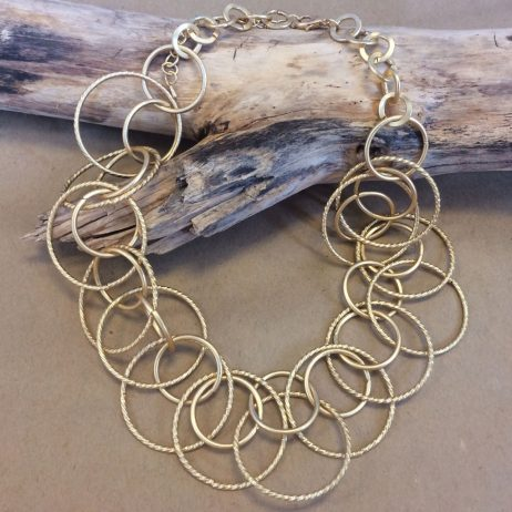 Hot Tomato Jewellery Gold Circles Statement Necklace