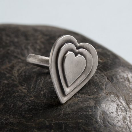 Danon Jewellery Layers Of Love Silver Ring