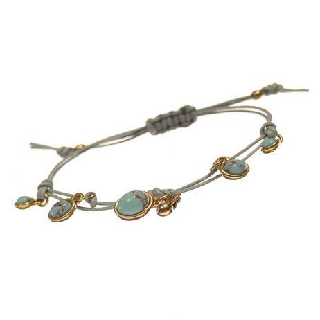 Hot Tomato Jewellery Turquoise Friendship Bracelet