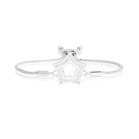 Joma Jewellery Message Silver Bracelet Outline Star 2198