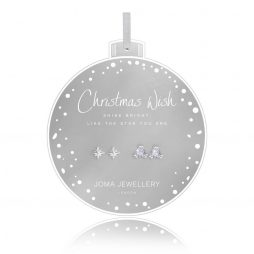Joma Jewellery Christmas Wish Set Of Two Earrings Bauble 2739