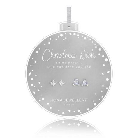Joma Jewellery Christmas Wish Set Of Two Earrings Bauble 2739