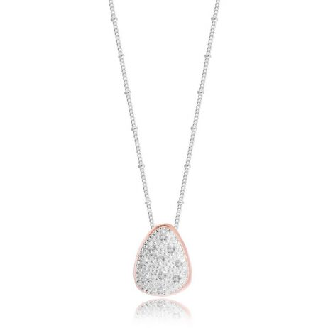 Joma Jewellery Pretty Pebble Pave Large Necklace 2765