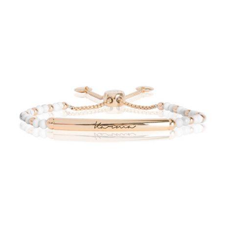 Joma Jewellery Signature Stones Karma Gold with Howlite Stones Bracelet 2770