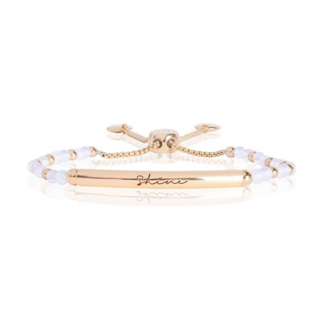 Joma Jewellery Signature Stones Shine Gold Bar with Moonstone Bracelet 2772