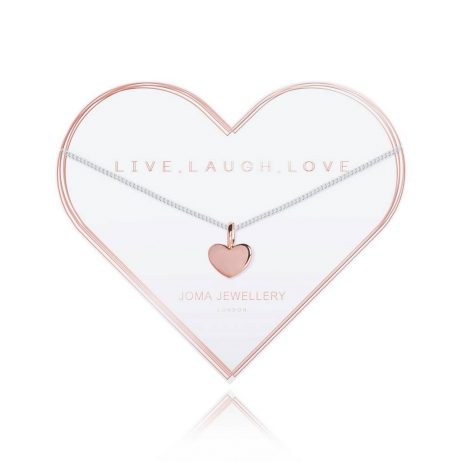 Joma Jewellery Live Laugh Love Heart Necklace 2788 EOL