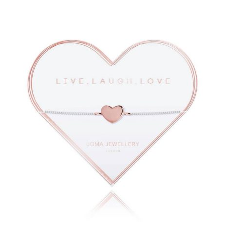 Joma Jewellery Live Laugh Love Heart Bracelet 2789 EOL