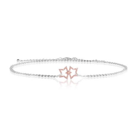 Joma Jewellery Sparkling Wish Rose Gold Pave Star Trio 2798